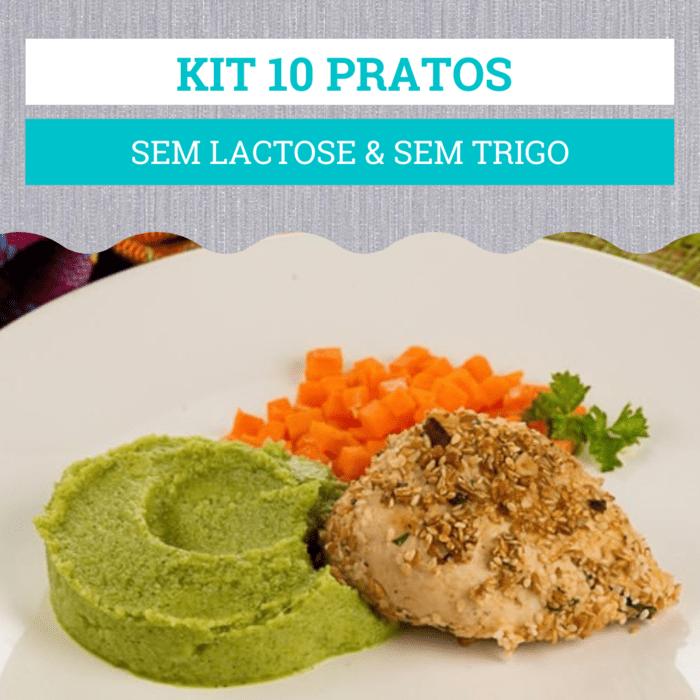 kit 10 Pratos Sem Lactose & Sem Trigo