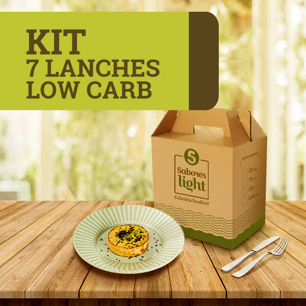 KIT 7 LANCHES LOW CARB
