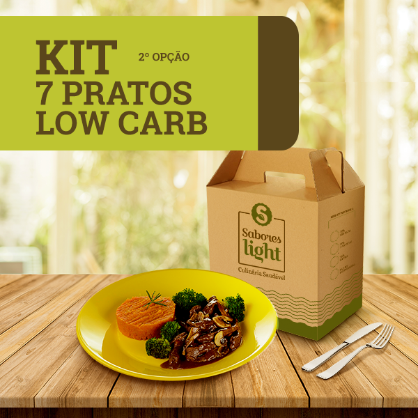 KIT 7 PRATOS LOW CARB – 2ª OPÇÃO